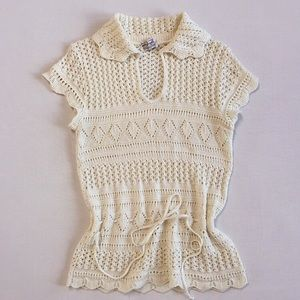 VINTAGE CROCHET 🌼 SWEETHEART SWEATER